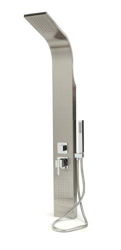 columna de ducha con hidromasaje jets acero duchador mano