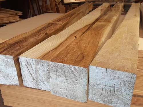 columna de madera dura cep. biselada 5 x 5  x 3,00 mts. - mader shop