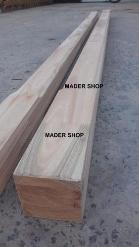 columna de madera euca grandis laminadas de 4 x 4  x 3 mts. - mader shop