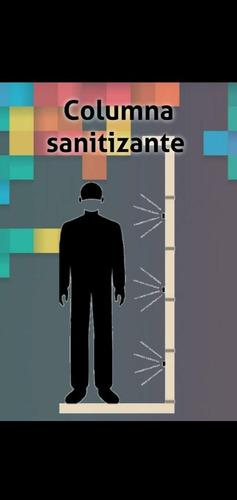 columna de sanitizacion desinfección