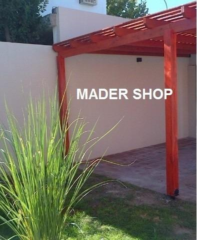 columna madera euca-grandis -laminada . 5 x 5  x 3,00 mts. . mader shop