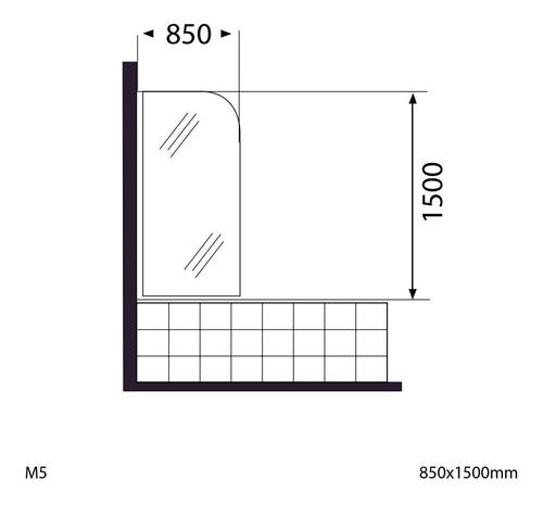 columna panel de ducha pdl1350 aura + mampara aura m5 cs2133