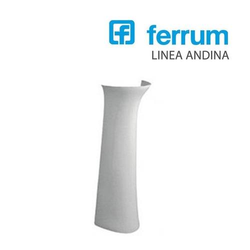 columna para lavatorio de baño andina ferrum blanca
