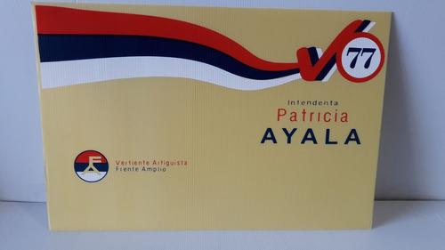 columneras - carteles en cartonplast - campaña politica