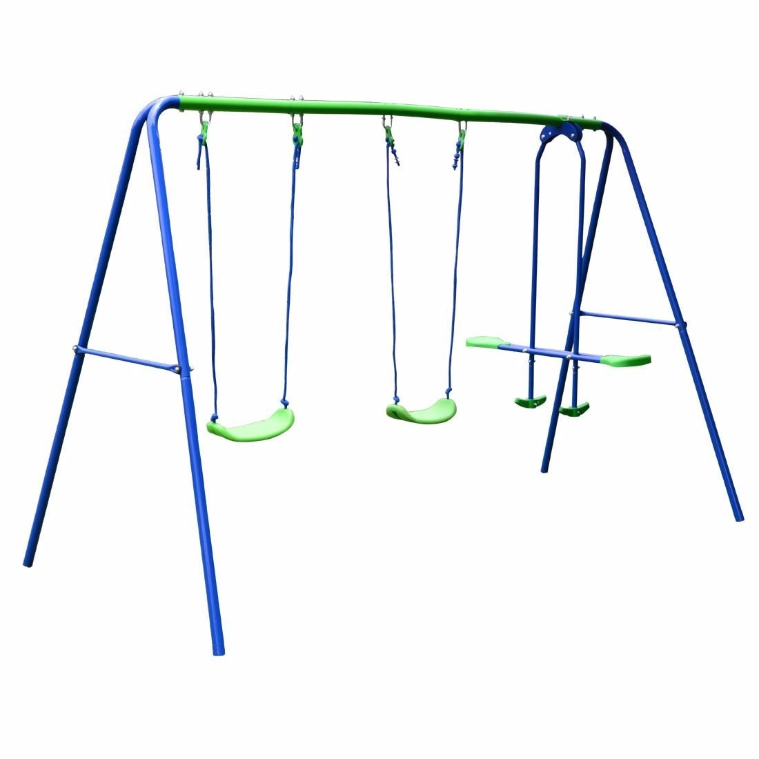 Columpio de acero juego hasta 4 ni os juguetes para jard n for Columpio balancin jardin