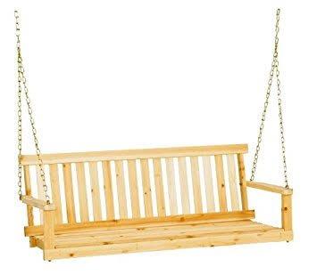 Columpio de madera para techo de terraza y jardin 1 en mercado libre - Columpio de madera para jardin ...