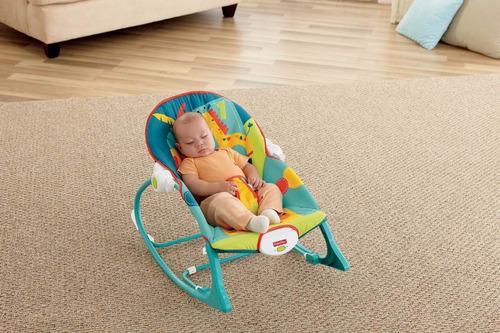 columpio fisher-price infant to toddler rocker, dark safari