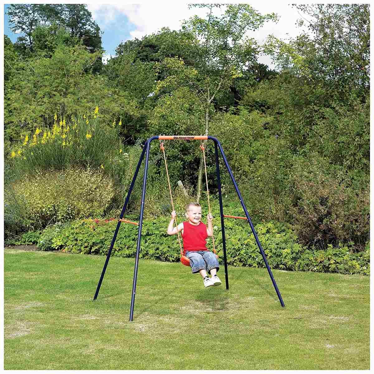 Columpio individual infantil ni o jugar patio jardin - Columpios ninos jardin ...