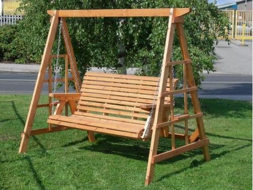 Columpio para 2 personas adultas o 4 ni os bs - Columpios de madera para jardin ...