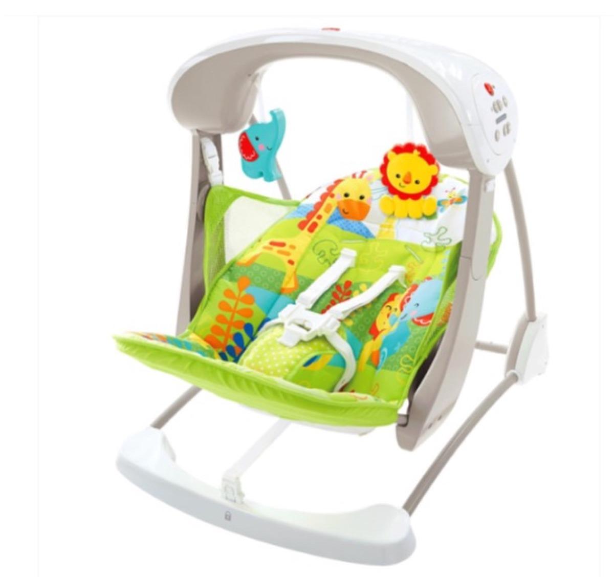 Columpio silla portatil amigos de la naturaleza fisher for Silla mecedora graco 6 velocidades