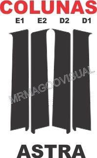 colunas blackout astra 4 portas hatch  e sedan
