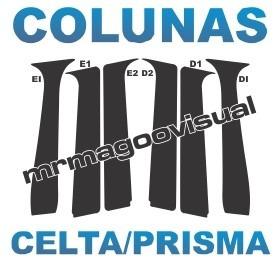 colunas pretas celta prisma geração 1 - 4portas