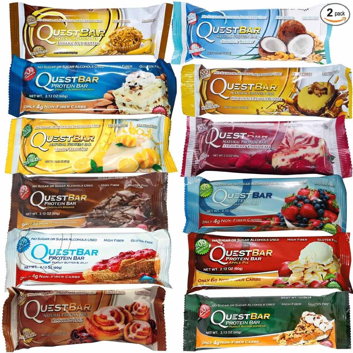 8b02938a3 Quest Bar - Barrinha De Proteina (com 12 Barras) - R  210