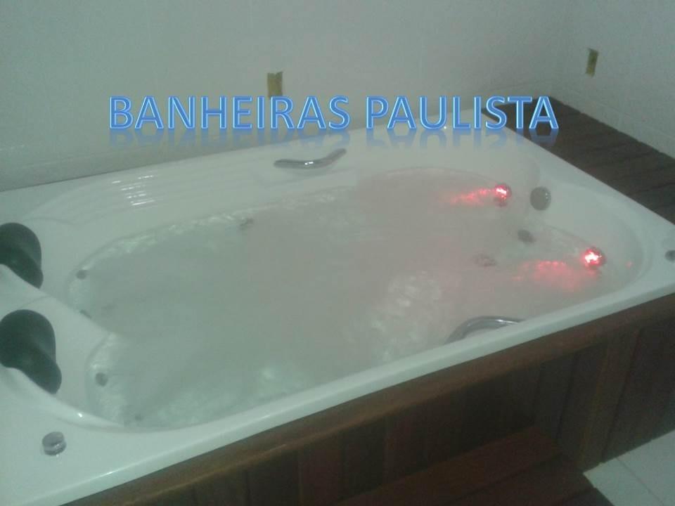 Banheira Com Hidro + Aquecedor Digital Completa Prontinha  R$ 2300,00 em Me -> Banheiro Com Banheira De Hidro