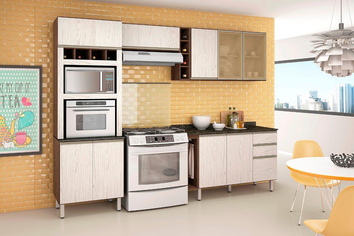 Jogo De Cozinha Completa Com 4 P S 100 Mdf Kali Nicioli R 1 499