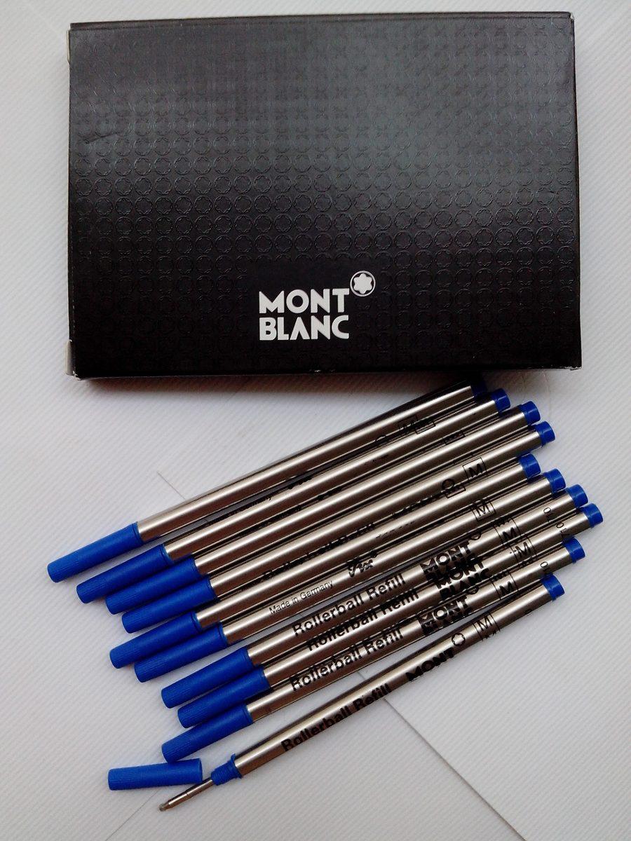 d9d49b34ab5 Kit Com 5 Cargas Rollerball Mont Blanc Azul Pronta Entrega - R  69 ...