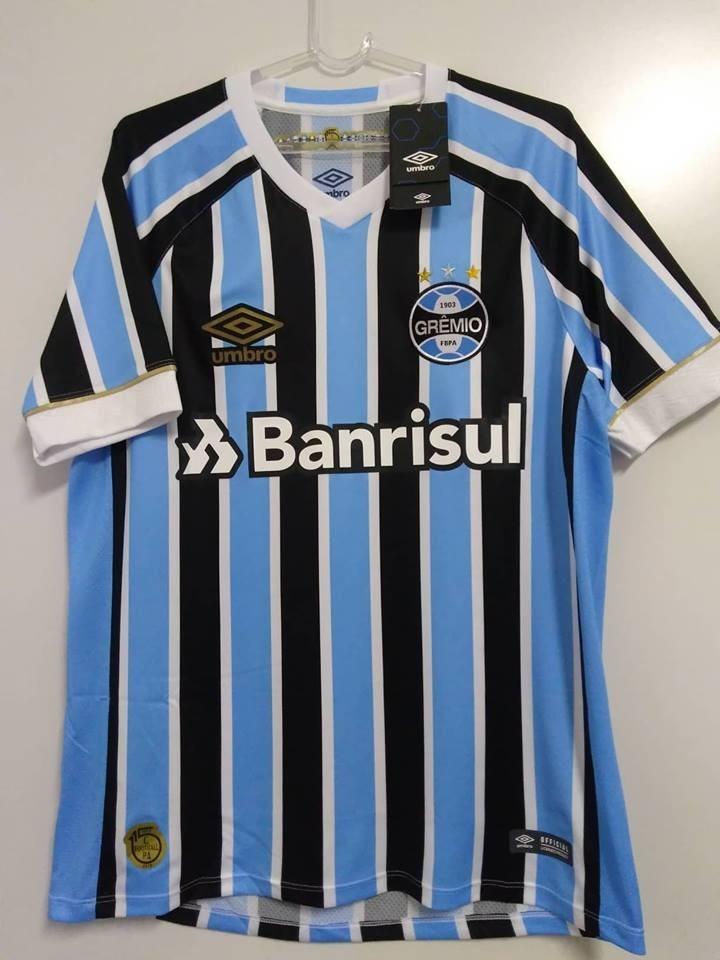 9dca4f80ff Com Nota Fiscal! Camisa Gremio Oficial 1 Umbro 2018 Tricolor - R ...