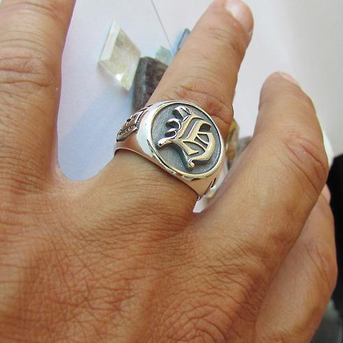 com prata anel