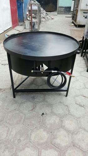 comal redondo con base de 1mt de diametro