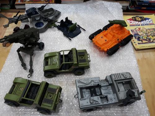 comandos em ação lote de 5 veículos gi joe original antigos