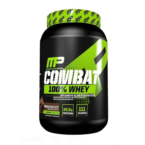 combat 100% whey 907g + bcaa 240 caps - musclepharm + coque