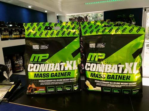 combat mass gainer de 12 libra para aumento de masa muscular