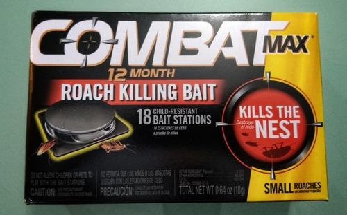 combat matacucarachas chiripas 18 cebos 1 año de protección