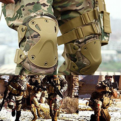 combate ejército militar táctico hard x almohadillas para