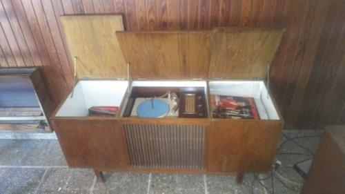 combinado winco con radio philco tropic mueble madera