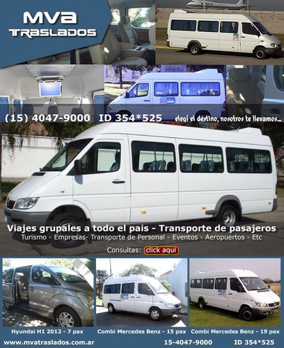 combis minibuses vans ejecutivas traslados viajes aeropuerto