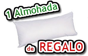 combo 1 1/2 plaza cannon sommier colchon almohada acol y sab