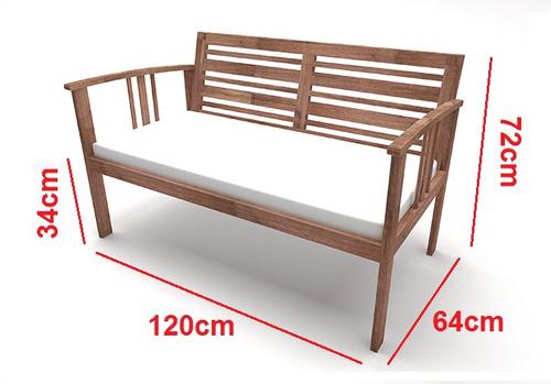 combo 1 sofá + 2 poltronas colonial madeira maciça jardim