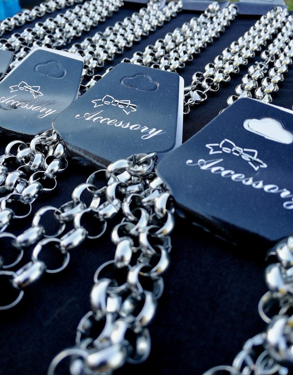 415a816835d1 combo 10 cadenas 10 pulseras rolo acero quirurgico mayorista. Cargando zoom.