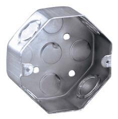 combo 10 cajas luz octogonal 5x10 chapa electricidad zinc