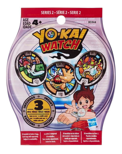 combo 10 pacotes c/3 medalhas yo kai watch série 2