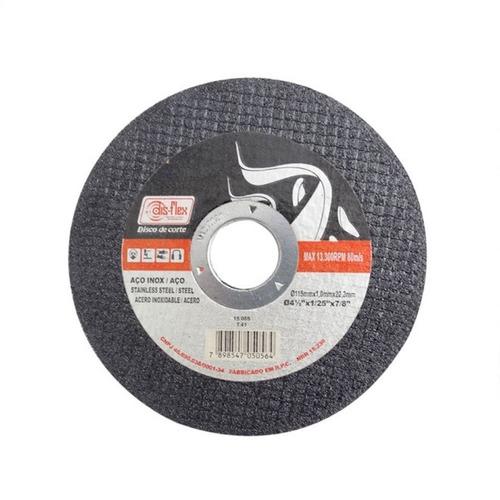 combo 100un. disco de corte fino 4.1/2 prata - disflex 15055