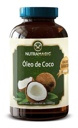 combo 12 óleo de coco 1000mg - 60 caps frete gratis