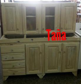 Muebles De Cocina Pino Madera - Muebles de Cocina en Mercado Libre ...