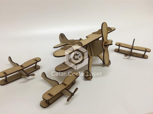 combo 15 avión souvenirs + avión central fibro infantiles