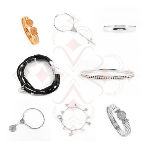 combo 17 pulseras surtidas de acero quirúrgico 316 l
