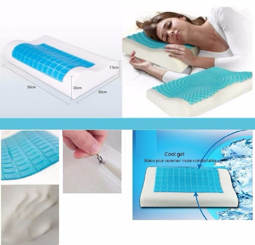 combo 2 almohadas cool pillow gel ortopedicas indeformables