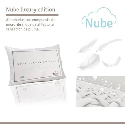 combo 2 almohadas nube luxury editi simil pluma cyber monday