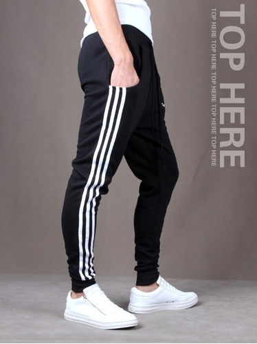 combo 2 calça de moleton masculina saruel skinny sport luxo