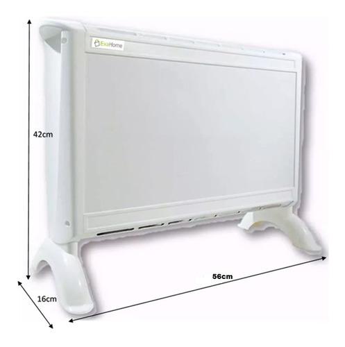 combo 2 calefactor + caloventor electrico panel estufa exa