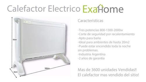combo 2 calefactor + caloventor electrico panel estufa exahome