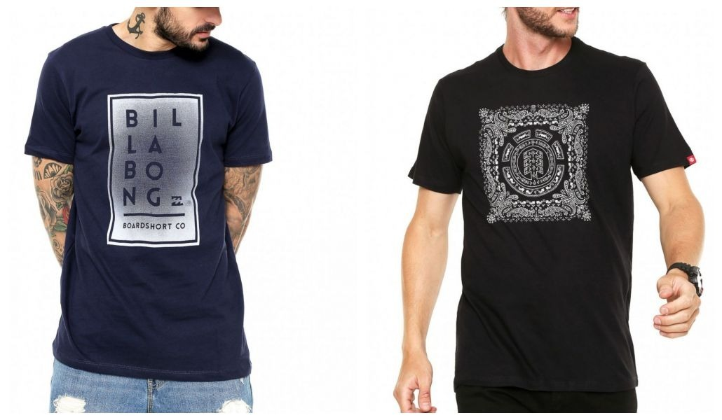 Combo 2 Camisetas Billabong   Element Tam P Originais Com Nf - R ... f37ab55234778