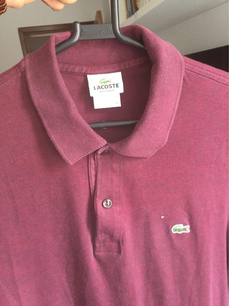 Combo 2 Camisetas Gola Polo Lacoste Original - R  150,00 em Mercado ... 5aeaf8a109