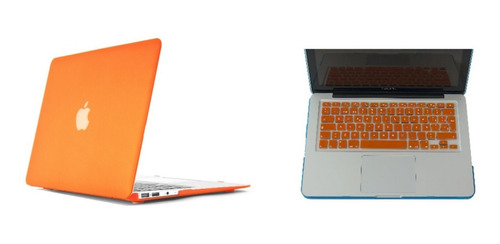 combo 2 en 1 funda case teclado macbook pro air 13 mate