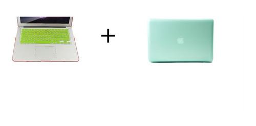 combo 2 en 1 mac funda case + teclado air 13.3 mate
