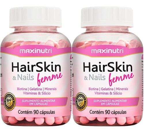 combo 2 hair skin & nails (cápsula da beleza) + 2 biotina